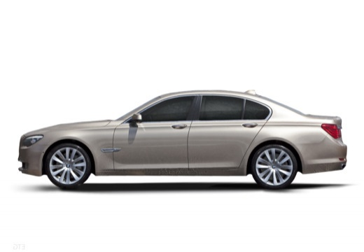 BMW Seria 7 F01 F02 I sedan silver grey boczny lewy