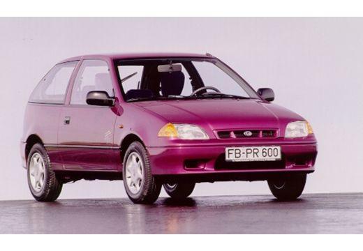 SUBARU Justy hatchback fioletowy przedni prawy