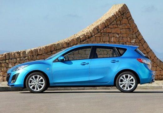 MAZDA 3 III hatchback niebieski jasny boczny lewy