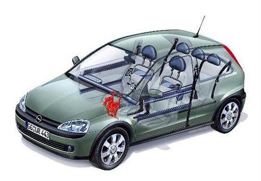 OPEL Corsa hatchback prześwietlenie