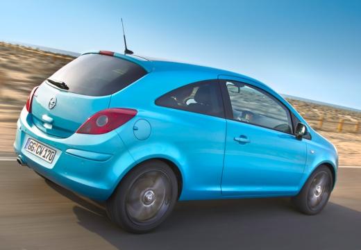 OPEL Corsa D II hatchback niebieski jasny tylny prawy