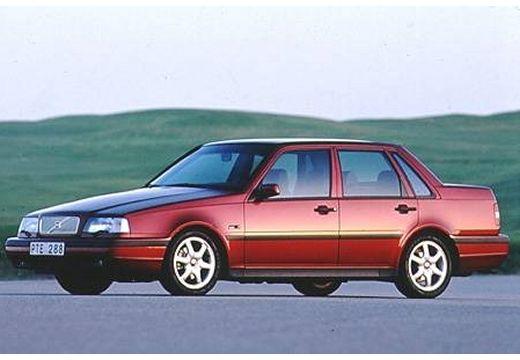 VOLVO 460 sedan bordeaux (czerwony ciemny) przedni lewy