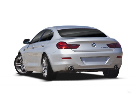 BMW Seria 6 Gran Coupe F06 I sedan silver grey tylny lewy