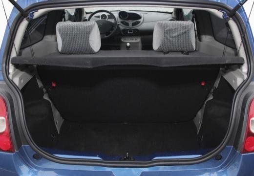 RENAULT Twingo hatchback niebieski jasny przestrzeń załadunkowa