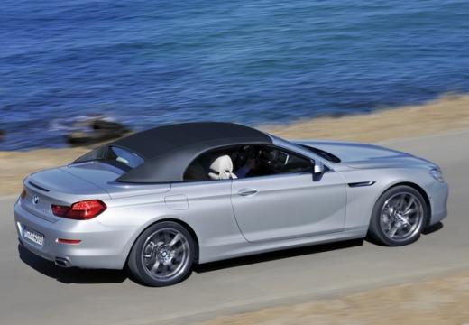 BMW Seria 6 Cabriolet F12 I kabriolet silver grey tylny prawy