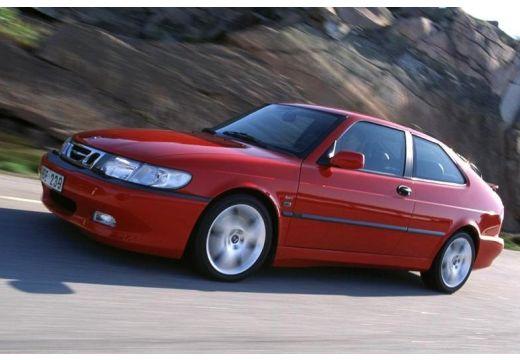 SAAB 9-3 I hatchback czerwony jasny przedni lewy