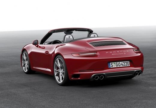 PORSCHE 911 Cabrio 991 II kabriolet czerwony jasny tylny lewy