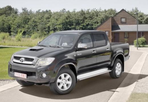 Toyota HiLux pickup szary ciemny przedni lewy