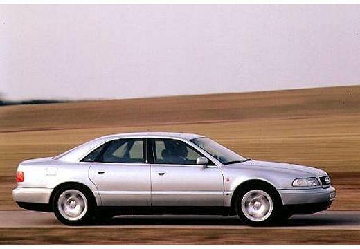 AUDI A8 sedan silver grey boczny prawy