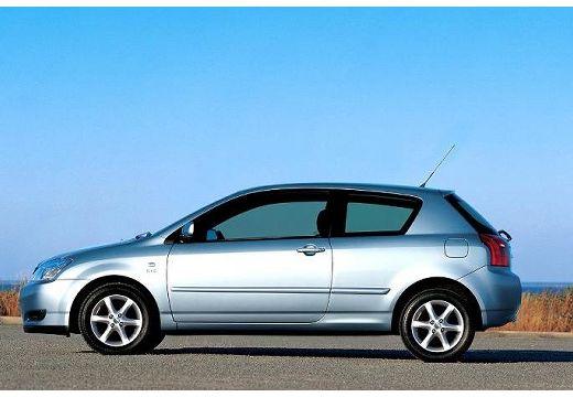 Toyota Corolla VI hatchback niebieski jasny boczny lewy