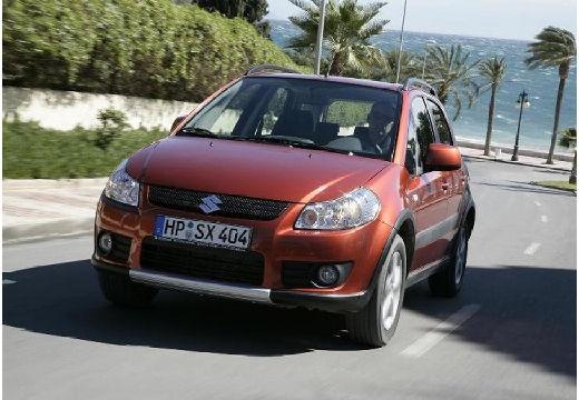 SUZUKI SX4 hatchback czerwony jasny przedni lewy