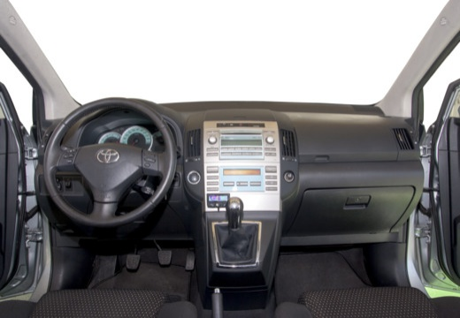 Toyota Corolla Verso III kombi mpv silver grey tablica rozdzielcza