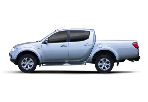 MITSUBISHI L 200 L200 pickup niebieski jasny boczny lewy