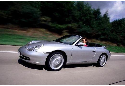 PORSCHE 911 Cabrio 996 kabriolet silver grey przedni lewy
