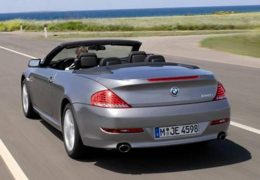 BMW Seria 6 kabriolet silver grey tylny lewy
