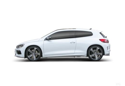 VOLKSWAGEN Scirocco coupe biały boczny lewy