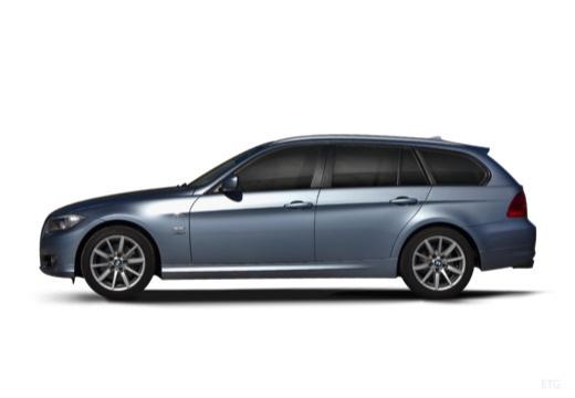 BMW Seria 3 Touring E91 II kombi niebieski jasny boczny lewy