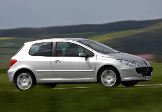PEUGEOT 307 hatchback silver grey przedni prawy