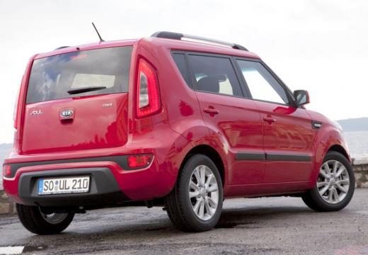 KIA Soul II hatchback czerwony jasny tylny prawy