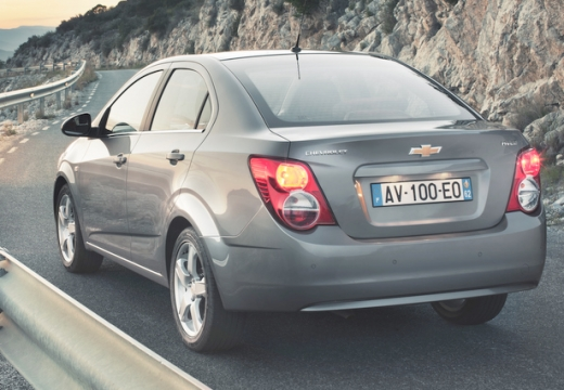 CHEVROLET Aveo III sedan silver grey tylny lewy