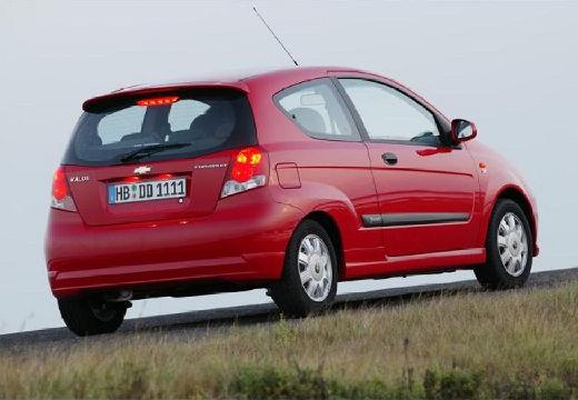 CHEVROLET Aveo I hatchback czerwony jasny tylny prawy