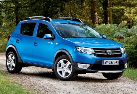 DACIA Sandero II hatchback niebieski jasny przedni prawy