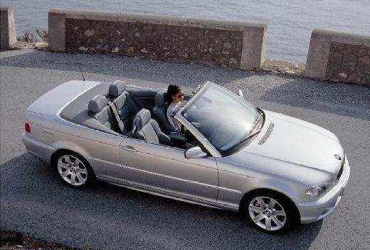 BMW Seria 3 kabriolet silver grey przedni prawy