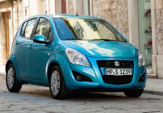 SUZUKI Splash hatchback niebieski jasny przedni prawy