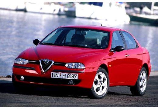 ALFA ROMEO 156 I sedan czerwony jasny przedni lewy