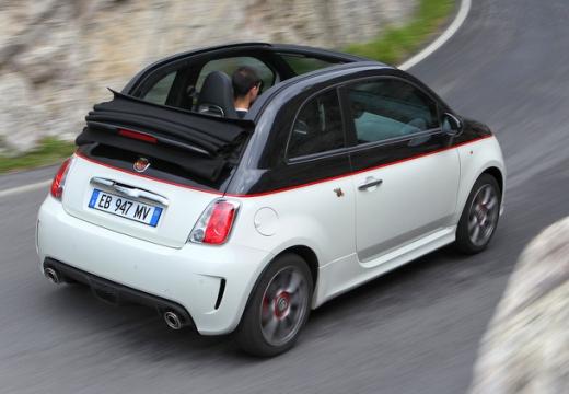 FIAT 500 C I kabriolet biały tylny prawy