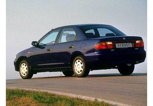 MAZDA 323 sedan niebieski jasny tylny lewy