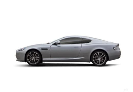 ASTON MARTIN DB9 PL coupe silver grey boczny lewy