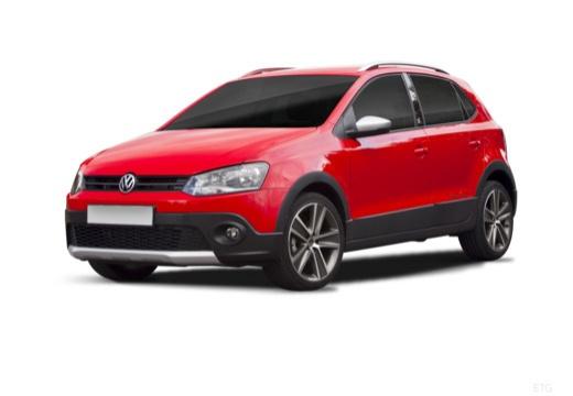VOLKSWAGEN Polo V I hatchback czerwony jasny przedni lewy