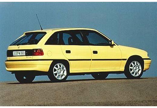 OPEL Astra II hatchback żółty tylny prawy