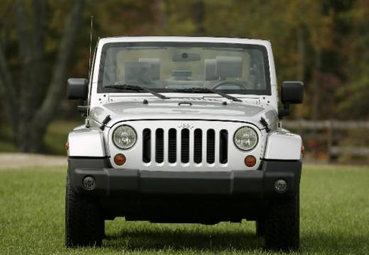 JEEP Wrangler III soft top silver grey przedni