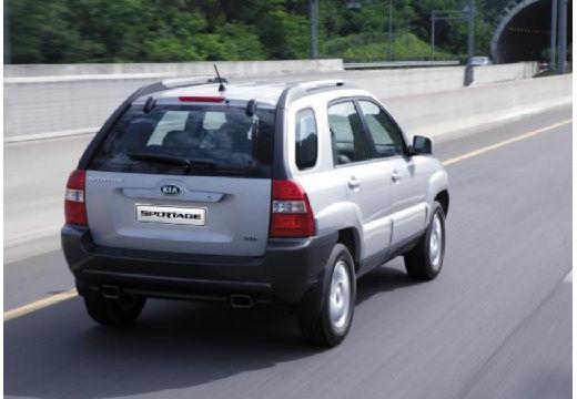 KIA Sportage II kombi silver grey tylny prawy