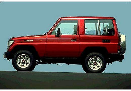 Toyota Land Cruiser II kombi bordeaux (czerwony ciemny) boczny lewy