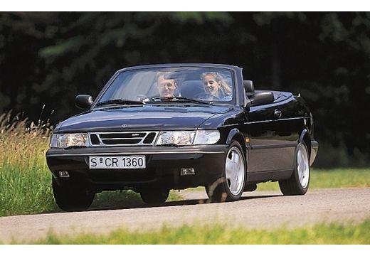 SAAB 900 Cabriolet kabriolet czarny przedni lewy