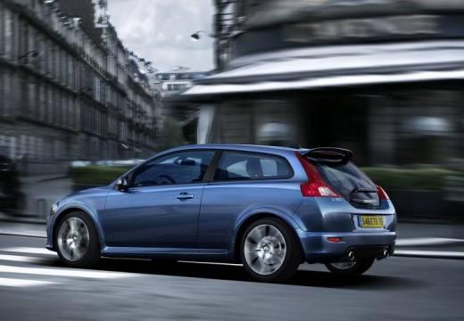 VOLVO C30 hatchback niebieski jasny tylny lewy