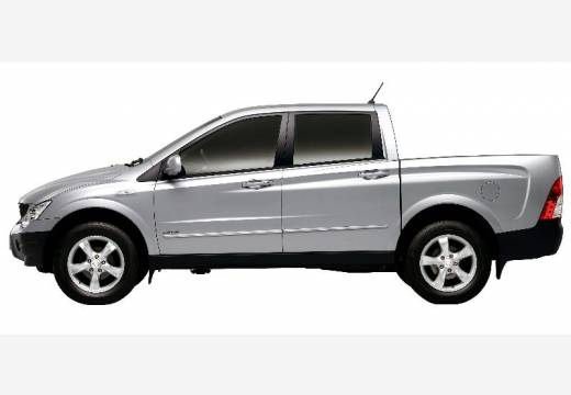 SSANG YONG Actyon Sports I pickup silver grey boczny lewy