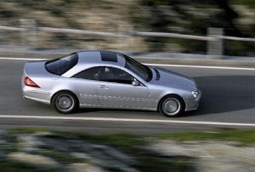 MERCEDES-BENZ Klasa CL coupe silver grey boczny prawy