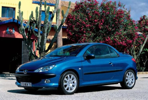 PEUGEOT 206 CC I kabriolet niebieski jasny przedni lewy