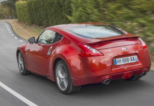 NISSAN 370 Z coupe czerwony jasny tylny lewy