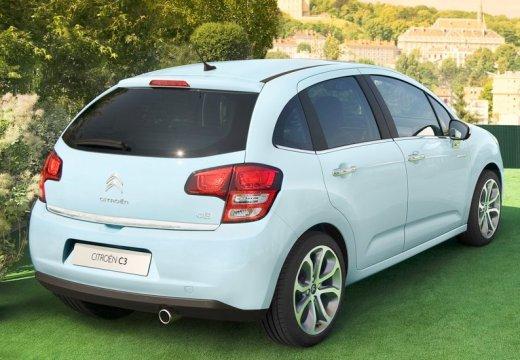 CITROEN C3 II I hatchback niebieski jasny tylny prawy