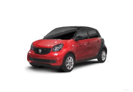 SMART forfour II hatchback czerwony jasny przedni lewy
