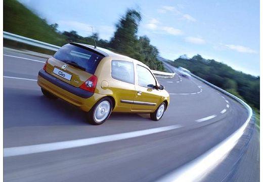 RENAULT Clio II II hatchback żółty tylny prawy