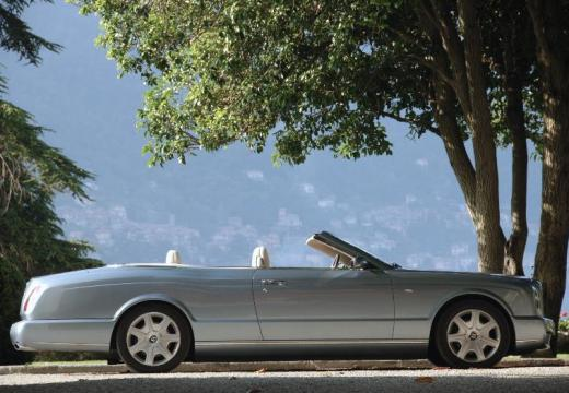 BENTLEY Azure kabriolet silver grey boczny prawy