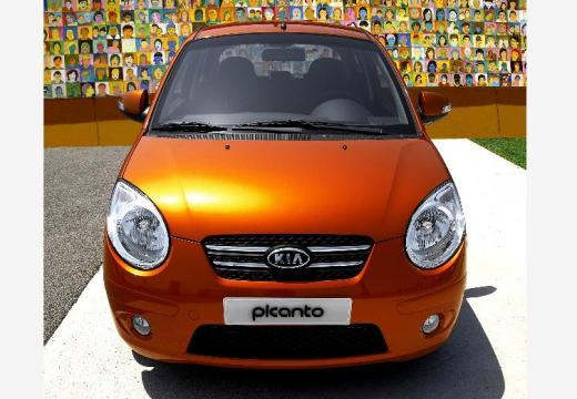 KIA Picanto II hatchback pomarańczowy przedni