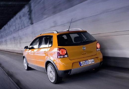 VOLKSWAGEN Polo IV II hatchback pomarańczowy tylny lewy