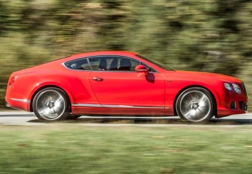 BENTLEY Continental GT II coupe czerwony jasny boczny prawy